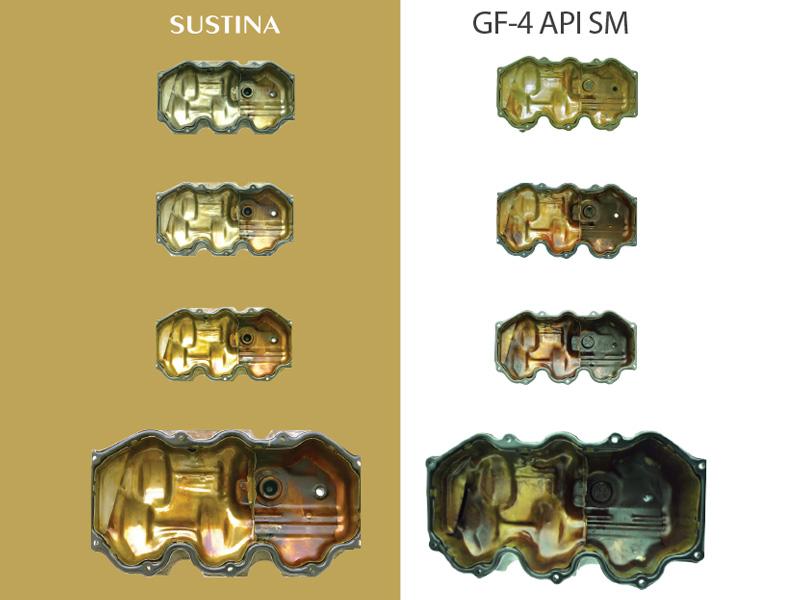 La tapa de la culata del motor del vehículo con aceite SUSTINA