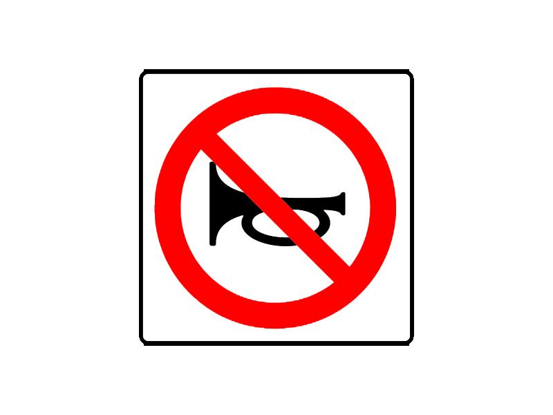 Prohibido el uso de señales acústicas